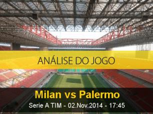 Análise do jogo: Milan X Palermo (2 Novembro 2014)