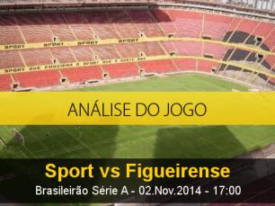 Análise do jogo: Sport X Figueirense (2 Novembro 2014)