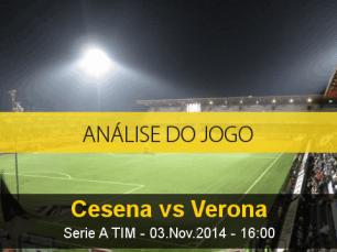 Análise do jogo: Cesena X Hellas Verona (3 Novembro 2014)