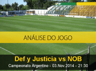 Análise do jogo: Defensa Y Justicia X Newell's Old Boys (3 Novembro 2014)