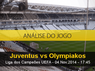 Análise do jogo: Juventus X Olympiakos (4 Novembro 2014)