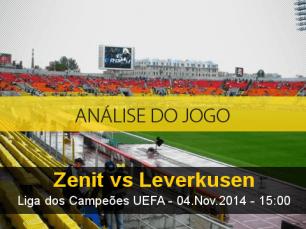 Análise do jogo: Zenit X Bayer Leverkusen (4 Novembro 2014)