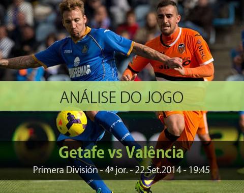 Análise do jogo: Getafe vs Valência (22 Setembro 2014)