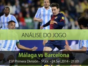 Análise do jogo da Liga Espanhola: Málaga vs Barcelona (24 Setembro 2014)