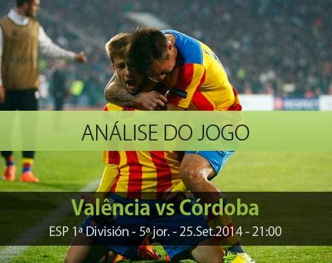 Análise do jogo: Valência vs Córdoba (25 Setembro 2014)