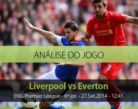 Análise do jogo: Liverpool vs Everton (27 Setembro 2014)