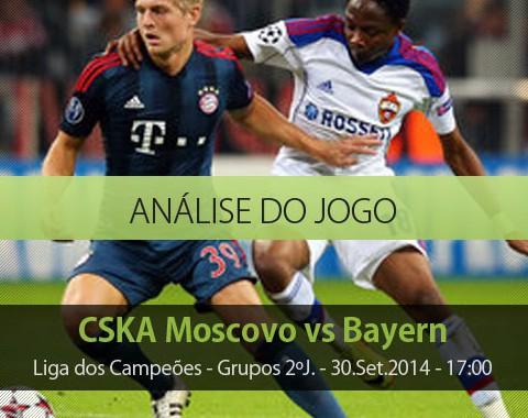 Análise do jogo: CSKA Moscovo vs Bayern Munique (30 Setembro 2014)