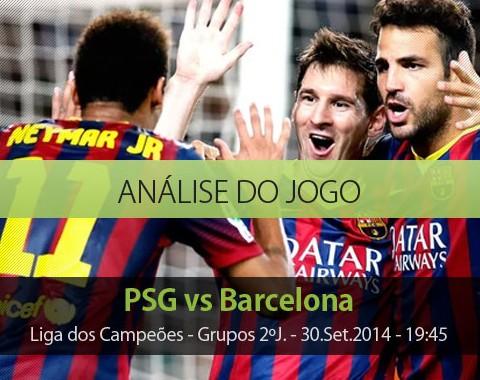 Análise do jogo: PSG vs Barcelona (30 Setembro 2014)