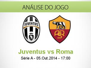Análise do jogo: Juventus vs Roma (5 Outubro 2014)