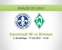 Prognóstico Darmstadt 98 Bremen (17 Outubro 2021)
