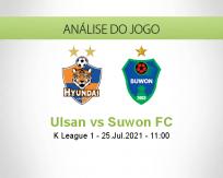 Prognóstico Ulsan Suwon FC (25 Julho 2021)