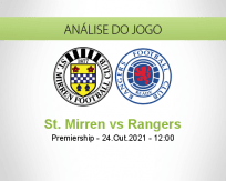 Prognóstico St. Mirren Rangers (24 Outubro 2021)