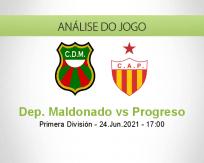 Prognóstico Dep. Maldonado Progreso (24 Junho 2021)