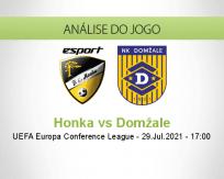 Prognóstico Honka Domžale (29 Julho 2021)