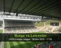 Prognóstico Braga Leicester (26 Novembro 2020)