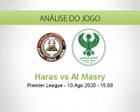 Prognóstico Haras El Hodood Al Masry (10 Agosto 2020)