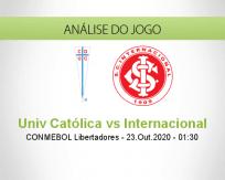 Prognóstico Universidad Católica Internacional (23 Outubro 2020)