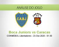 Prognóstico Boca Juniors Caracas (23 Outubro 2020)