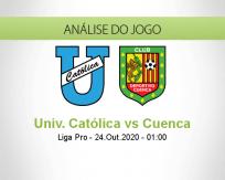 Prognóstico Universidad Católica Deportivo Cuenca (24 Outubro 2020)