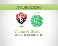 Prognóstico Vitória Guarani (23 Outubro 2020)