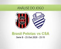 Prognóstico Brasil de Pelotas CSA (24 Outubro 2020)