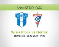 Prognóstico Wisła Płock Górnik Zabrze (06 Julho 2020)