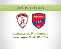 Prognóstico Larissa Panionios (06 Julho 2020)