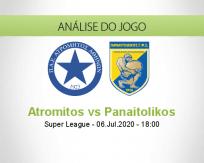Prognóstico Atromitos Panaitolikos (06 Julho 2020)