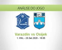 Prognóstico Varaždin Osijek (20 Setembro 2020)