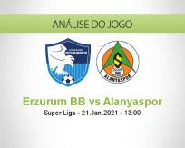 Prognóstico Erzurum BB Alanyaspor (21 Janeiro 2021)