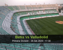 Prognóstico Real Betis Real Valladolid (20 Setembro 2020)