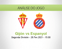 Prognóstico Gijón Espanyol (28 Fevereiro 2021)