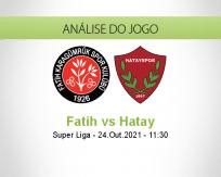 Prognóstico Fatih Hatay (24 Outubro 2021)