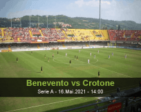 Prognóstico Benevento Crotone (16 Maio 2021)