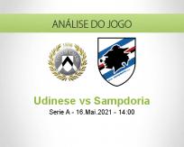 Prognóstico Udinese Sampdoria (16 Maio 2021)