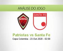 Prognóstico Patriotas Boyacá Independiente Santa Fe (23 Outubro 2020)