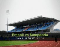 Prognóstico Empoli Sampdoria (19 Setembro 2021)