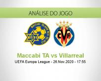 Prognóstico Maccabi TA Villarreal (26 Novembro 2020)