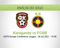 Prognóstico Karagandy FCSB (29 Julho 2021)