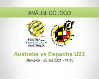 Prognóstico Australia Espanha U23 (25 Julho 2021)
