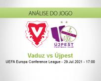 Prognóstico Vaduz Újpest (29 Julho 2021)