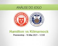 Prognóstico Hamilton Kilmarnock (16 Maio 2021)