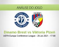 Prognóstico Dinamo Brest Viktoria Plzeň (29 Julho 2021)
