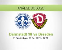 Prognóstico Darmstadt 98 Dresden (19 Setembro 2021)