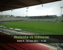 Prognóstico Atalanta Udinese (24 Outubro 2021)