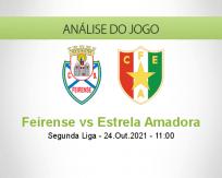 Prognóstico Feirense Estrela Amadora (24 Outubro 2021)