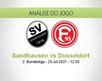 Prognóstico Sandhausen Düsseldorf (25 Julho 2021)