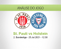 Prognóstico St. Pauli Holstein (25 Julho 2021)
