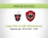 Prognóstico Casa Pia UD Oliveirense (28 Fevereiro 2021)