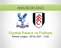 Prognóstico Crystal Palace Fulham (28 Fevereiro 2021)